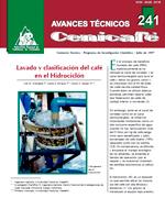 Lavado y clasificación del café en el hidrociclón