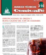 Especificaciones de origen y buena calidad del café de Colombia