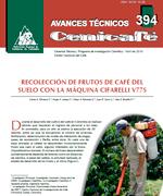 Recolección de frutos de café del suelo con la maquina CIFARELLI V77S